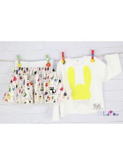 Komplet dla dziewczynki Królik - kolekcja Bon Bon