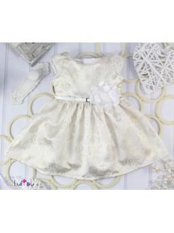 Sukienka ROZALKA w kolorze złotym 62-152