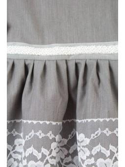 Szara sukienka z długim rękawem dla dziewczynki