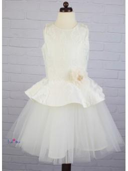 Sukienka z baskiną dla dziewczynki komunia wesele MałaMi