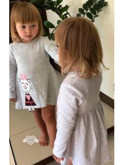 Sukienka KAROLKA z kotkiem 92-134