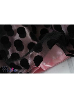 Czarno-różowa spódniczka z tiulem IGA 104-146