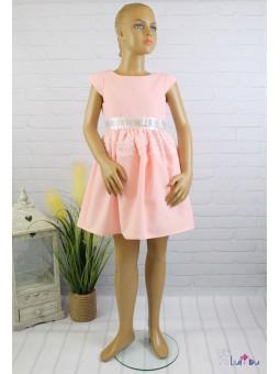 Sukienka wizytowa WIKI w pięknym, łososiowym kolorze
