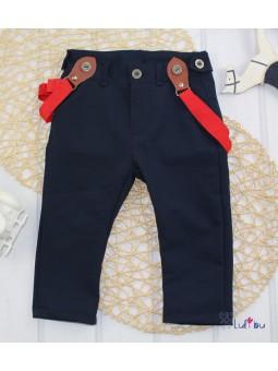 Spodnie z szelkami dla chłopca