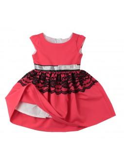 Śliczna, koralowa sukienka WIKI 62-152