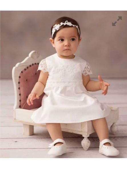 Sukienka do chrztu dla dziewczynki Luiza Balumi
