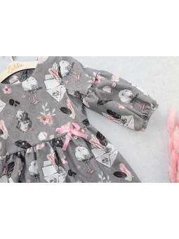Sukienka dla dziewczynki szara